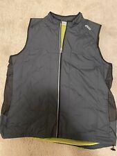 Asics Mens 2XL Gray Grey Vented Mesh Vest Full Zip Lined Running Cycling XXL