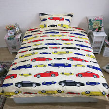 Colorful Car Quilt Duvet Doona Covers Set Single Size Bed Linen With Pillowcase