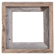 """8x8 – 2"""" Wide Signature Reclaimed Rustic Barn Wood Open Frame No Glass or Back"""