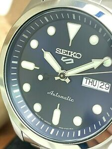 Seiko 5 Men's Watch SRPE53 Automatic Diver Sport Blue Dial Day Date S. Steel