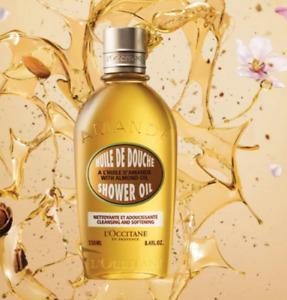15%OFF L'Occitane Almond Shower Oil 250ml Delicious Nourish Perfume Your Body