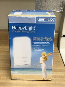 New Verilux Compact Happy Light 2500 Model VT01-SB Light Therapy Lamp