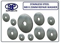 """M8 (8MM - 516"""") X 25MM (1"""") A2 ST/STEEL REPAIR WASHER 25MM OUTSIDE DIAMETER"""