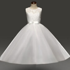 Girl Communion Party Prom Gown Formal Wedding Bridesmaid Dress Size 10 -11 Years