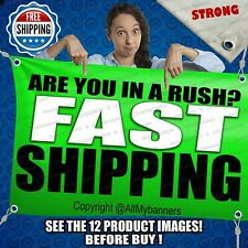 3x5 Full Color Banner Vinyl Sign With Custom Design Service Option Fast Shipping