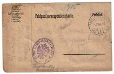 Austria 1915 Fieldpost Cover (Minor Water Damage) - Z484