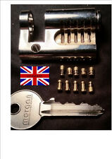 CUTAWAY 5 PIN  EURO PRACTICE LOCK fitted with 10 SECURITY PINS....  British Made