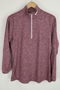 Nike Womens sz Large Plum Heathered 1/4 Zip Element Pullover