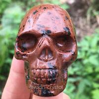 2'' Natural Kaneria Quartz Crystal Skull Carved Skull Reiki Healing 1pc