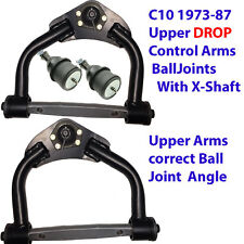 L 1973-1987 CHEVY C10 UPPER DROP TUBULAR CONTROL ARMS Balljoints XShaft