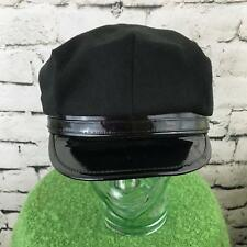 Unisex Snapback Police Hat Black Adjustable Costume Cosplay Officer Cop Cap