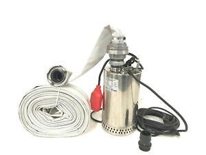 Industriepumpe 1,5KW Profipumpe Feuerwehrpumpe Schmutzwasserpumpe Tauchpumpe