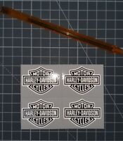 lot 4 stickers autocollant harley davidson retro reflechissant