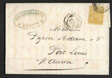 FRANCE, 1882 COVER TO MAURITIUS, 25c ADHESIVE USED, MESSAGE IN FRENCH, NANTES.