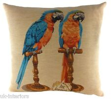 "18"" Tropical Birds Macaw Belgian Tapestry Cushion Evans Lichfield LC683"