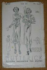 """1936 Official Girl Scout Teen Uniform Skirt Shirt Pattern Vintage Bust 35"""""""