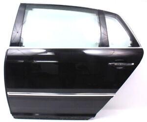 LH Rear Door Shell Assembly 04-06 VW Phaeton - L041 Black - Genuine