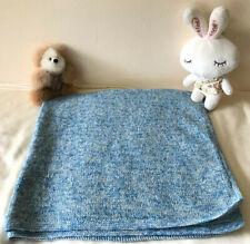 100% Cashmere Handmade Blue Kids Throw Blanket