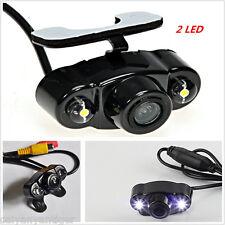 Waterproof Dual LED Night Vision Vehicle Reversing Rearview Backup CMOS Camera
