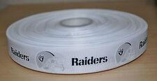 7/8 inch Oakland Raiders Grosgrain Ribbon- 1 Yard