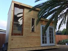 Prefab modern tiny house with bathroom, kitchenette and loft