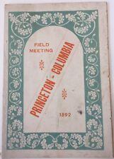 1892 Princeton vs Columbia Field Meeting Track And Field Berkeley Oval New York