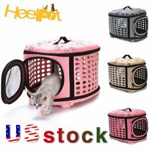 Pet Portable Dog Cat Travel Carrier Handbag Outdoor Cage Foldable Box Holder US