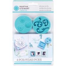 Martha Stewart Crafter's Clay Silicone Molds Decorat.Design Silikon Formen 4/Pkg