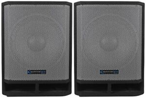 """(2) Technical Pro THUMP15 Thump 15"""" 2600w Passive DJ Carpeted Subwoofers PA Subs"""