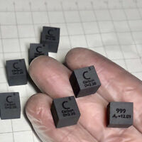 99.99% High Purity Graphite C Metal Carved Element Periodic Table 10mm