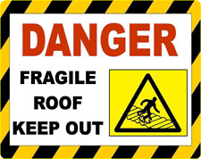 Danger fragile toit SIGNE 150 mm x 200 mm Auto Adhésif En Vinyle
