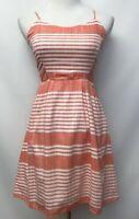 Old Navy Size XS Dress White Orange Striped