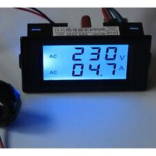 UN3F Digital AC 300V 100A LCD Dual Panel Volt Amp Combo Meter +CT 110V 220V 240V