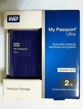 """WD My Passport Ultra USB 3.0 2000GB 2T 2TB 2.5"""" Portable Hard Drives - Blue"""