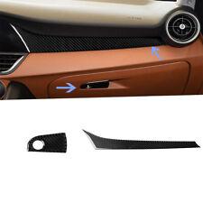 2Pcs For Alfa Romeo Giulia 2017-19 Carbon Fiber Interior Dashboard Trim Cover