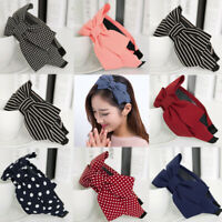 Ribbon Headwear Wide Band Bowknot Headband Rabbit Ear Twist Hairband