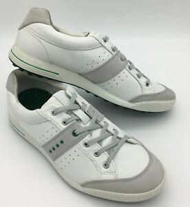 ECCO Street Retro Spikeless Golf Shoes White/Green Size US 12 Eu 46
