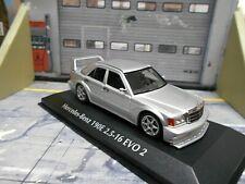 MERCEDES BENZ 190 190E 2.5-16 16V EVO 2 1990 silber Minichamps Maxichamps 1:43