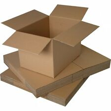 "5  LARGE BOXES/SINGLE WALL CARTON 20x15x10"" + FREE p&p"