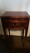 VM8) Lovely vintage reproduction wooden table w sliding writing slab & 1 drawer