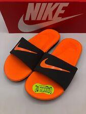 Nike Kawa Slide Print Youth 13c Grey Orange 819352 002 New in Box!