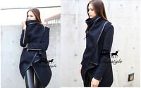 Women's Fashion Warm WOOL Trench Windbreaker Parka Outwear Slim Long Coat Jacket