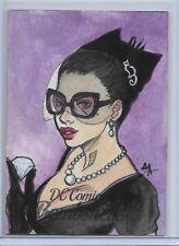 DC Comics Bombshells Sketch Card 1/1 By Ariana Atanzio BLACK CAT CRYPTOZOIC