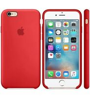 NEW - Genuine Silicone Case for Apple iPhone 6s / 6 in Red