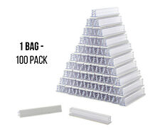 Sign Holders SuperGrip 3�x ½� Clear Plastic Gripper Price Tag Mount (Bag of 100)