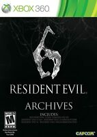 Resident Evil 6 Archives Microsoft Xbox 360 Capcom New and Sealed