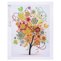 FT- 40x50cm Colorful Tree Cross Stitch DIY Partial Home Cafe Diamond Painting My