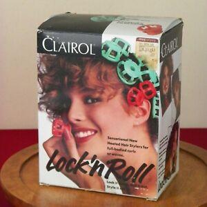 Vintage Clairol Lock n Roll Set 24 Hot Rollers Spoolies  Curlers BT-1 Box 1990