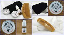 Chocolate And Peppermint, 10ml Oil, 15ml Wax,15ml Balm, Beard Comb AND Gift Bag