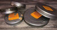 Kodak Lot of 5 Mixed  Metal Empty 35 mm Film Cans 2-1000/3-400 FT